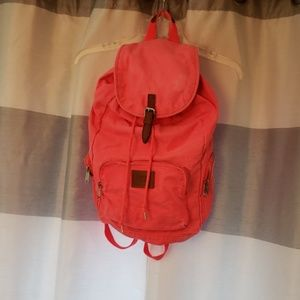 VS Pink Canvas Backpack